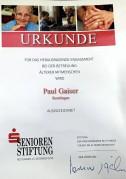 Seniorenstiftung der Kreissparkasse Reutlingen ehrt Paul Gaiser