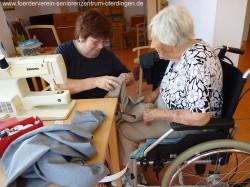 Der Förderverein Seniorenzentrum Oferdingen e.V. finanziert das Nähstüble im DRK-Seniorenzentrum Oferdingen