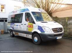 Rollstuhlgerecht ausgestattetes DRK-Fahrzeug des Seniorenzentrums Oferdingen