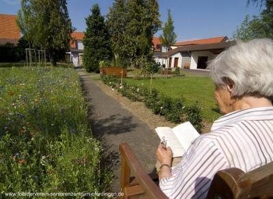 Schöne Gartenanlagen des DRK-Seniorenzentrums Oferdingen
