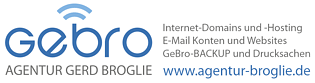 AGENTUR BROGLIE Domains Hosting EMail Websites Backup Drucksachen